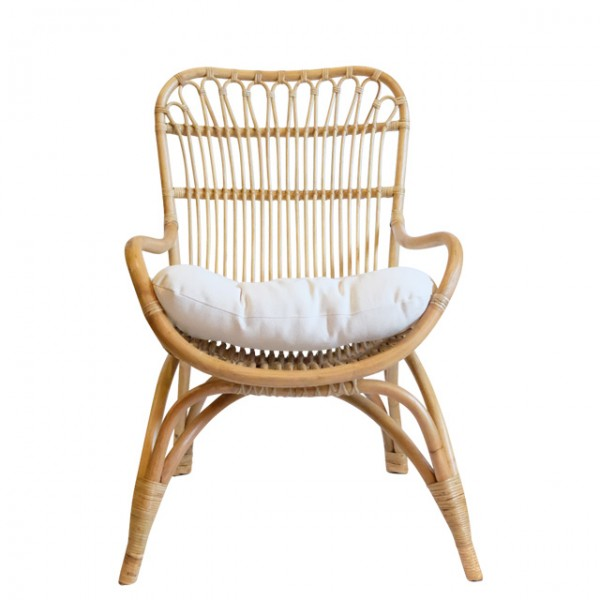 habu rattan lounge chair<br>(하부 라탄 라운지체어)